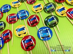 tayo the little bus cupcake toppers sugar cookies cake candy buffet birthday party ideas supplies printables kuala lumpur malaysia