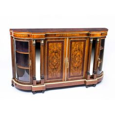 Console Tables Diplomatic Pair Antique French Regency Style Demi Lune Marquetry Cherub Home Console Tables