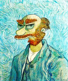 Willy the Groundskeeper - Simpsons/Van Gogh mash-up