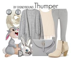 """Thumper"" by leslieakay ❤ liked on Polyvore featuring moda, Old Navy, Thumper, dVb Victoria Beckham, Alice + Olivia, Meli Melo, Qupid, Lazy Oaf, Kenneth Jay Lane y disney"