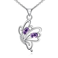 Godyce Horse Guardian Angel/Heart Wings HandGun Lotus Leaf Necklace Silver Plated Zircon Jewelry with Gift Box >>> Hope that you do enjoy the photo. (This is an affiliate link) Cute Jewelry, Bridal Jewelry, Magical Jewelry, Accesorios Casual, Butterfly Pendant, Butterfly Necklace, Crystal Jewelry, Silver Jewelry, Fashion Jewelry