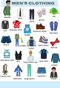 Learn Clothes & Accessories Vocabulary in English – ESL Buzz accessories vocabulary Types of Clothing: Learn Clothes and Accessories Vocabulary in English - ESLBuzz Learning English English Time, English Class, English Words, English Lessons, English Grammar, English Language Learning, Learning Spanish, Teaching English, English Writing
