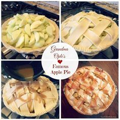 Grandma Ople's Famous Apple Pie The BEST Apple Pie I've Ever Made! With apple season in full swing, I decided to finally try an apple pie recipe I have been wanting to make for years, Apple Pie Recipes, Sweet Recipes, Yummy Recipes, Just Desserts, Delicious Desserts, Best Apple Pie, Pie Dessert, Holiday Recipes, Biscotti