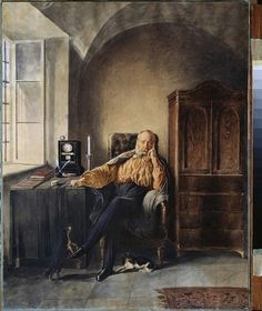 Retirement by Sokolov, Pyotr Petrovich 1858 Ramen, Retirement, Portraits, Painting, Art, Novelty Signs, Craft Art, Head Shots, Paintings