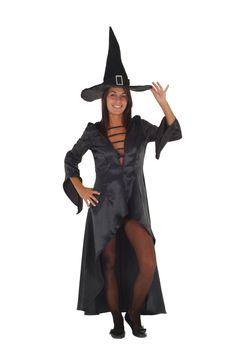 aum ein Kostüm wird mehr mit Halloween in Verbindung gebracht wie das klassische Hexenkostüm für Damen.  Der Klassiker mit Tradition!  Mit unserem 4 teiligem Hexenkostüm komplett Set ersparen Sie sich die lästige Suche nach den passenden Accessoires.  Wir liefern Ihnen ein sexy Hexenkleid, Netzstrumpfhosen, Hexenhut und eine Hexenperücke als fertiges Kostüm-Set. Alles in klassischem schwarz, perfekt für die nächste Halloweenparty.  Das sexy Hexenkleid besitzt einen weiten Ausschnitt der Ihr Deko Fishnet Tights, Wonder Woman, Superhero, Halloween, Fictional Characters, Searching, Neckline, Trousers, Deco