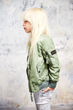 Finger in The Nose Spring - Summer 2015 Buddy Light Moss Green - Unisex Bomber Jacket Tama Snow Grey - girl skinny Fit jeans