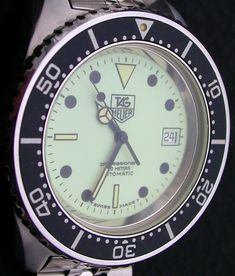 TAG Heuer 1000m dive watch- Glow-dial with automatic ETA movement