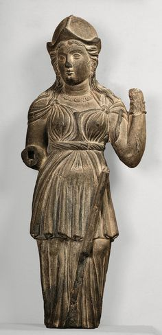 arjuna-vallabha:  Indo-greek Athena from Gandhara region.