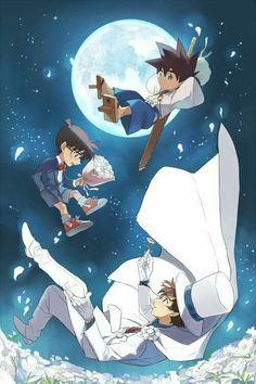 Cross over : Yaiba , Conan and Kaito Kid