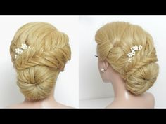 Braided Prom Updo. Tutorial For Long Hair - YouTube
