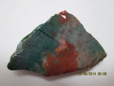 Rough UnPolished  Red Green Fancy Hard by mnblarneystone on Etsy, $18.00