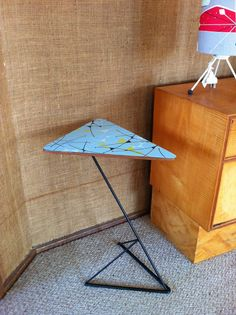 Exceptionnel Atomic Style Smokers Side Table With Genuine Vintage Laminex U0026 Plywood Top  On Kurrlson Custom Base