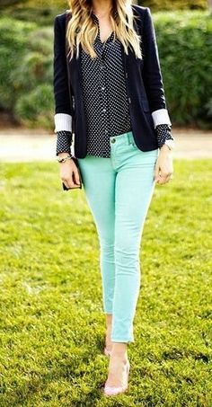 I think I need some fun colored skinny jeans
