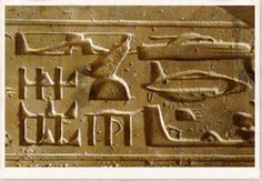 ABYDOS CARVINGS    Located approximately 450 kilometres south of Cairo in Egypt is the very ancient city-complex of Abydos.  Believed by many to be one of the most important historical sites relating to ancient Egypt it is also the location of a set of carvings that have caused a significant amount of academic controversy amongst archeologists and historians.