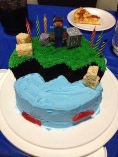 Last minute Minecraft cake- soooo easy!!!