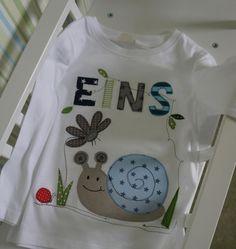 """Geburtstags-T-Shirt+""""Schnecke""""+von+Seezauber+am+Meer+auf+DaWanda.com"""