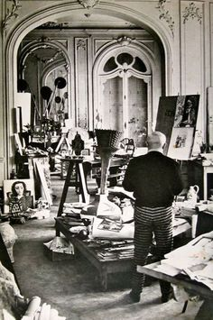 Picasso's studio at Villa La Californie, France. #Picasso #art #modernart #artists #homes #studios #interiors #interiordesign #homedecor #artstudios #artiststudio #contemporaryart #painting #painter #sculptor #workspace #abstractart