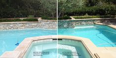 These pictures are courtesy of RestoraCrete and Paolo Gil in California. This picturesque pool was beautifully renewed by applying NewLook's Original Solid Color Stain in Sierra #344 around the coping. It looks beautiful!
