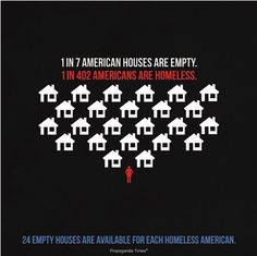 1 in 7 american homes are empty ... that's 24 empty houses for every homeless person ... this is what bankers do to earn the big bucks