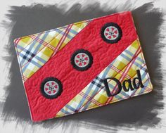 Mug Rug Dad Quilted In The Hoop Machine by AnnesEmbroidery on Etsy
