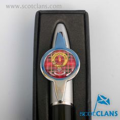 MacDowall Clan Crest and Tartan Pen. worldwide shipping available