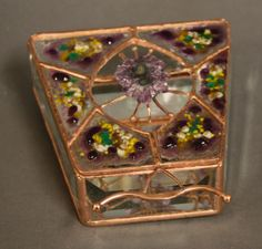 Triangle shaped Amethyst Box by BoxesByNeal on Etsy