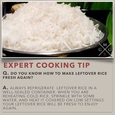 DO YOU KNOW HOW TO MAKE LEFTOVER RICE FRESH AGAIN [COOKING-TIPS]