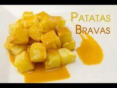 Las Autenticas Patatas Bravas - YouTube Corn Recipes, Healthy Recipes, Sandwich Sauces, Spanish Tapas, Kitchen Dishes, Barbacoa, Mediterranean Recipes, Recipe Collection, Easy Meals