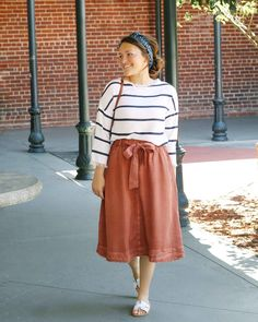 """70ebf8027 I love love love this rust skirt from @shop_pinkbliss 💛 It runs true to  size and is incredibly soft! The direct link is in my…"""""""