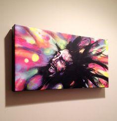 Marley Giclee Canvas Reproduction  Bob Marley Art  by BlackInkArtz