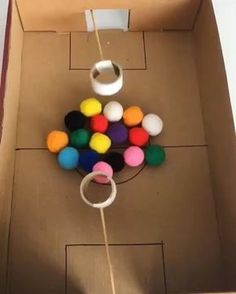 Who needs screen time when you can entertain with brilliant DIY games like this? 🙌🏻🤩 Awesome idea by 👏🏻Check out her page for… Creative Activities For Kids, Toddler Learning Activities, Indoor Activities For Kids, Montessori Activities, Fun Activities, Kids Party Games, Diy Games, Games For Kids, Winter Crafts For Kids