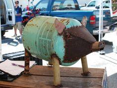 Found object art pig