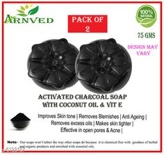 Bath & Shower Arnved Activated Charcoal Soap-Pack of 2  Product Name: Arnved Combo of Anti Acne & Rice & Red Lentil Soap Brand Name: Arnved Type: Scrub Multipack: 2 Country of Origin: India Sizes Available: Free Size *Proof of Safe Delivery! Click to know on Safety Standards of Delivery Partners- https://ltl.sh/y_nZrAV3  Catalog Rating: ★4 (160)  Catalog Name: Arnved Superior Brightning Bath Scrubs & Soaps CatalogID_931777 C52-SC1302 Code: 412-6122187-