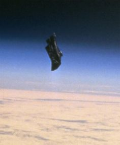 This is the Black Knight, an object of unknown origin that has been circling the Earth for as long as we know. In fact we knew about it even before we ourselves had space travel.