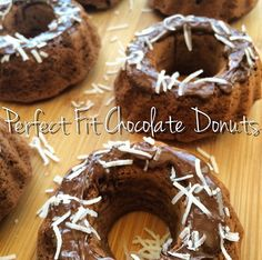 Perfect Fit Chocolate Donuts sprinkled with coconut shared by tiu_hez.