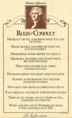 Thomas Jefferson's Rules of Conduct