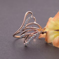 New Lady//Women/'s Silver 14KT white gold filled topaze anneau mariage cadeau taille 7-10