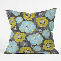 Katrien Throw Pillow, $28, now featured on Fab. Love the blue, lime, dark blue combo.