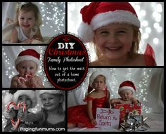 DIY Family Christmas Photoshoot - tips on making it FUN and how to capture natural smiles. Great DIY Prop ideas too!