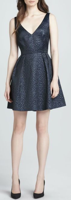 French Connection - Fast Katari Jacquard Fit-and-Flare Dress - love the shoes too