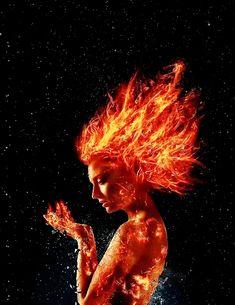 Sophie Turner as Jean Grey in X-Men: Dark Phoenix Marvel Girls, Marvel Vs, Captain Marvel, Marvel Comics, Jean Grey Phoenix, Dark Phoenix, Harley Queen, Phoenix Images, Angel Drawing