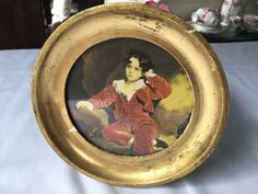 Florentine Gilt Framed Round Portrait of Young Boy Picture Made in Italy Marked FlorenceItalian Gilded Florentine Shabby A by StudioVintage on Etsy