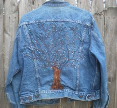 Tree of Life repurposed vintage Levi's jacket by elainenthesun