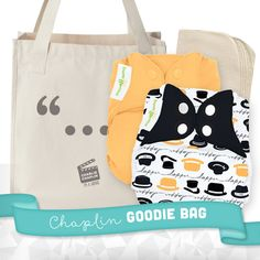 LIMITED EDITION bumGenius Freetime Genius Series - Chaplin + Goodie Bag - bumGenius - Cotton Babies Cloth Diaper Store #CottonBabies