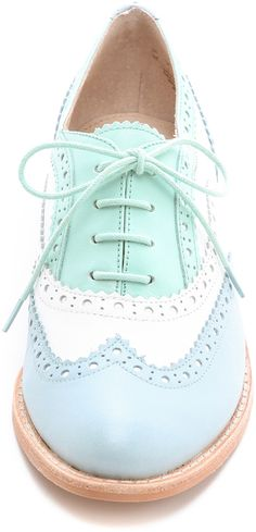 SAM EDELMAN Blue & Turquoise Jerome Oxfords. I'm in love! VP: Hate oxfords on women ...these are adorable!