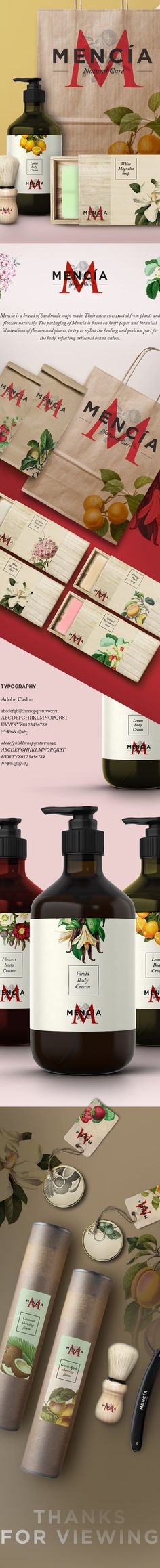Mencía on Behance - Mencia is a brand of handmade soaps made.