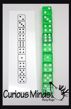 Busy Bag Dice Patterns Number Learning by CuriousMindsBusyBags