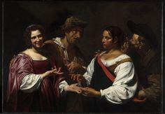 Simon Vouet (1590-1649), La diseuse de bonne aventure 1620, Ottawa
