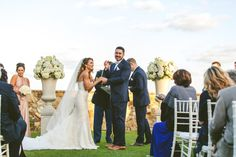 Chich White Wedding, Outdoor Ceremony| Bella Collina | Concept Photography | Vangie's Events of Distinction