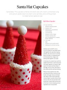 SANTA HAT CUPCAKE TUTORIAL!